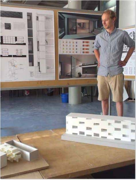 Proceedings of Building Simulation 2013, Lyon, France. Student Philip Rust co-presenting, final crit of