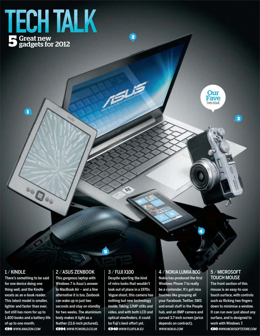 Great new gadgets for 2012 2 Our Fave THIS ISSUE 1 3 4 5 1