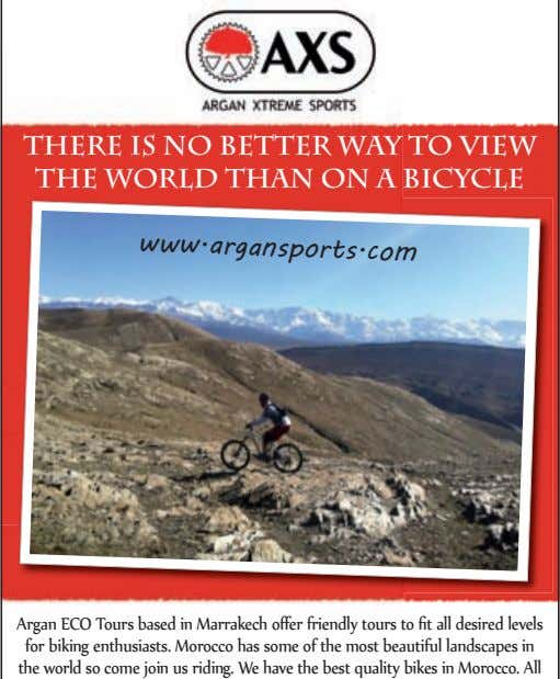 There is no better way to view the world than on a bicycle www.argansports.com