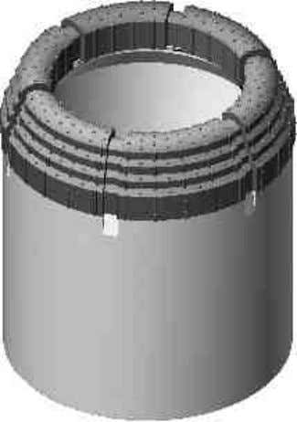 core bits utilized for the geological exploration industry • Surface-set diamond bits are manufactured by the