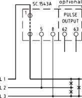 (optional) via insulated pulses output, with resolution x1 or x10, of the display resolution. C52 YX100