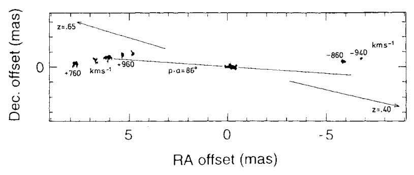 14 X-Ray Observations Confirm Fig. 1-4. Spots of water maser emission in the innermost nucleus of