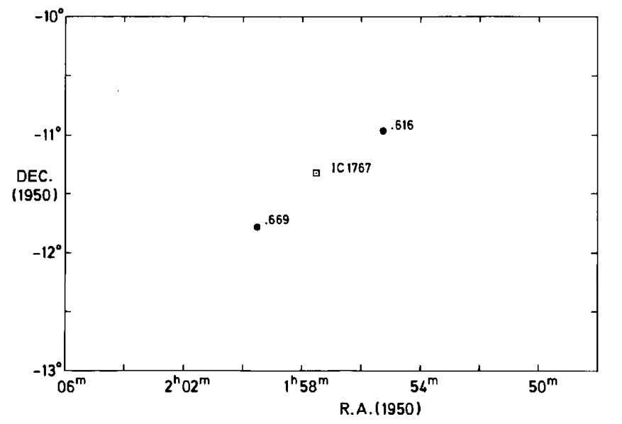 18 X-Ray Observations Confirm Fig. 1-6. The two strongest radio sources in the pictured area fall