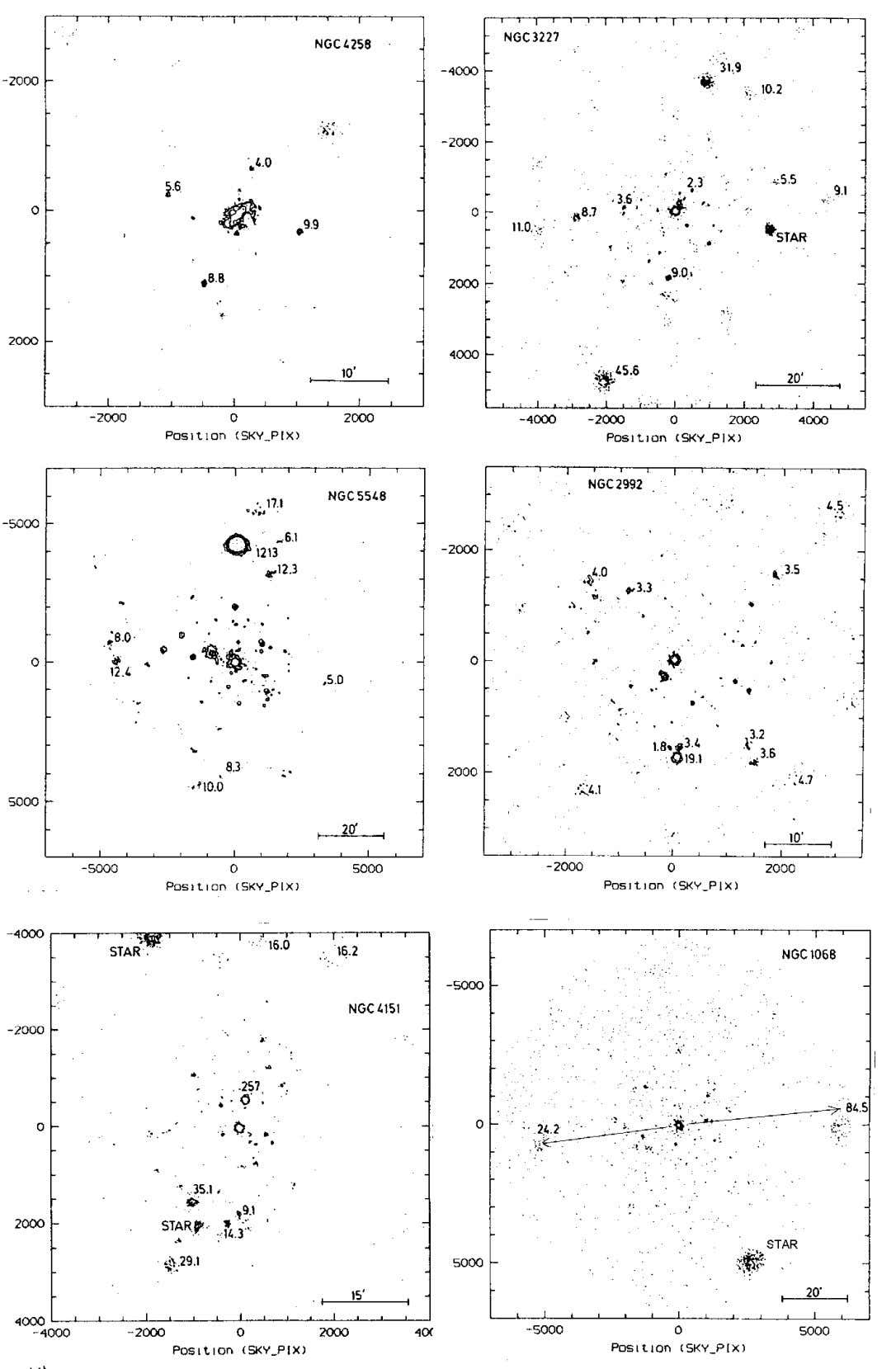 as Quasar Factories 39 Fig. 2-3. A sample of the pairs of X-ray sources discovered across