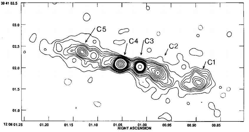 radio map of the nucleus of NGC4151 by A. Pedlar et al. The condensation C4 is
