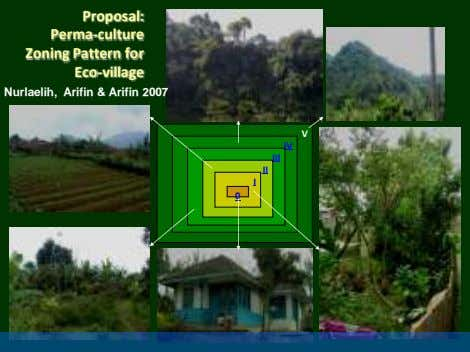 Proposal: Perma-culture Zoning Pattern for Eco-village Nurlaelih, Arifin & Arifin 2007 V IV III II