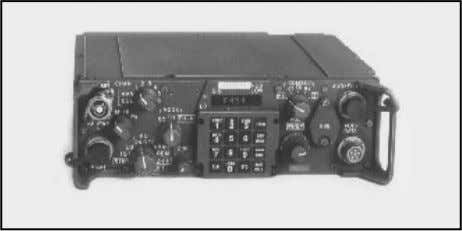 voice radios are used in all FAAD C 3 I subsystems. Figure 3-6. SINCGARS radio (generic