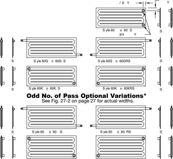 Odd No. of Pass Optional Variations* See Fig. 27-2 on page 27 for actual widths.