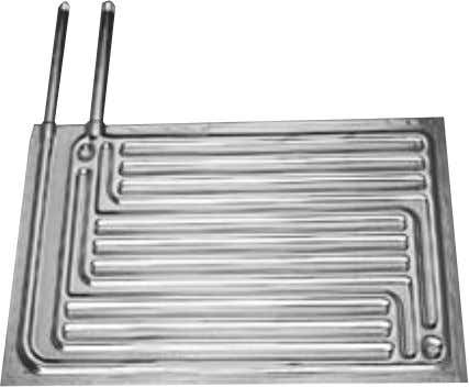 Fig. 2-1 A double embossed PLATECOIL unit is formed by welding together two embossed metal sheets.