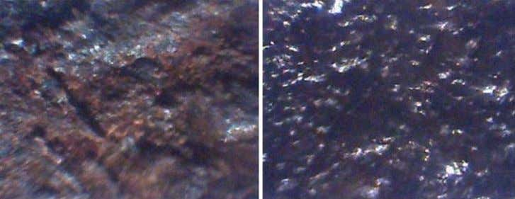 products ( left ) compared with corrosion products treated with rust converter during 5 months (