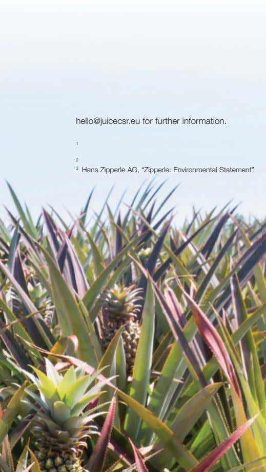 "hello@juicecsr.eu for further information. 1 2 3 Hans Zipperle AG, ""Zipperle: Environmental Statement"""