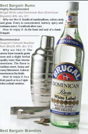 Best Bargain Rums Highly Recommended Brugal White Label Dominican Rum (Dominican Republic) 40% abv, $11.