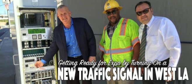 New New traffic traffic signals signals are are helping helping to to improve improve street