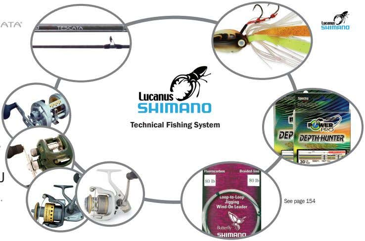 ® ® ® Technical Fishing System ® See page 154