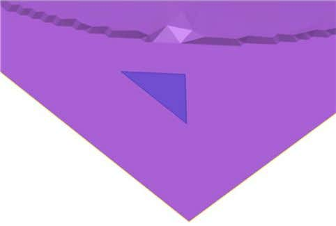 you want to de lete. The selected triangles turn blue. 2. Click Delete Triangles . This