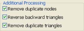 triangle fixing operations automatically when stitching. The following options are all selected by default: Remove