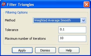 3. to display the Filter Triangles dialog box. Click 4. Select a filtering Method from the