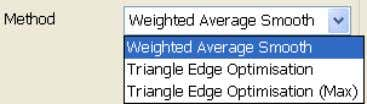 4. Select a filtering Method from the drop-down list. Use Weighted Average Smooth to reposition each