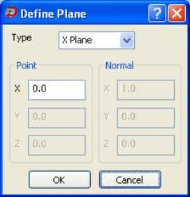 Planes on the Morph Triangles dialog box (see page 26). Use the Define Plane dialog box