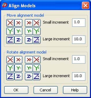 Click 3. to display the Align Models dialog box. Click 4. Dynamically adjust the positio n