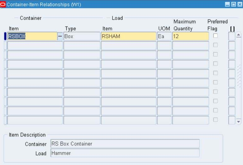 Setup and Process Cartonization You can define Container & Item relationship © 2012 Oracle Corporation –
