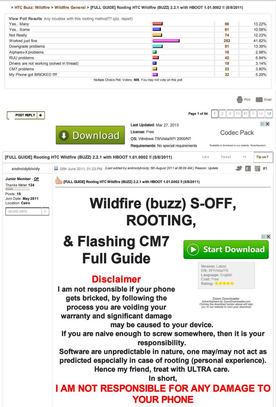 > HTC Buzz: Wildfire > Wildfire General > [FULL GUIDE] Rooting HTC Wildfire (BUZZ) 2.2.1
