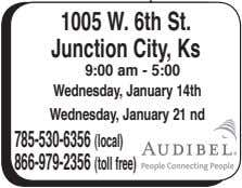 1005 W. 6th St. Junction City, Ks 9:00 am - 5:00 Wednesday, January 14th Wednesday,