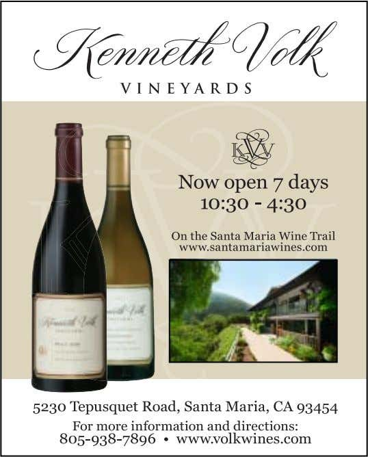 & Conference Bureau at 1-800-634- 1414 or visit www.SanLuisObispoCounty.com. 2 5 www.winecountrythisweek.com