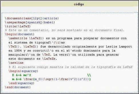 con \begin{document} y termina con \end{document} . LaTeX funciona con la filosofía de que la parte