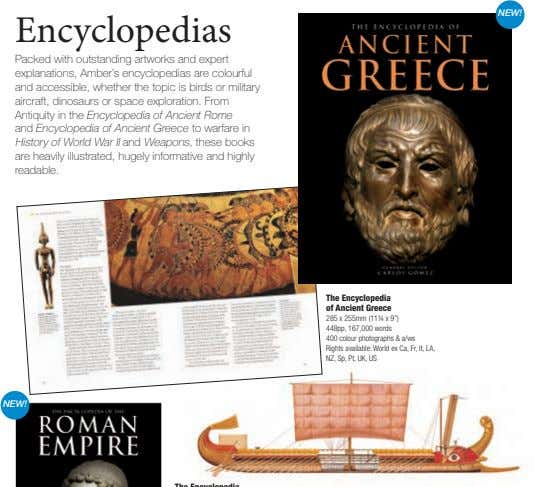 NEW! Encyclopedias Packed with outstanding artworks and expert explanations, Amber's encyclopedias are colourful and