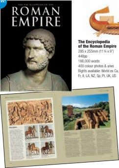 "The Encyclopedia of the Roman Empire 285 x 255mm (11¼ x 9"") 448pp 166,000 words"