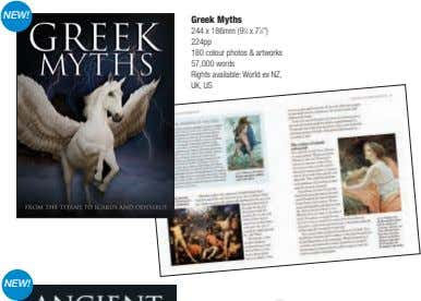 "NEW! Greek Myths 244 x 186mm (9 3 ⁄4 x 7 1 ⁄2"") 224pp 180"