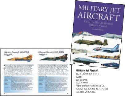 "Military Jet Aircraft 163 x 123mm (6½ x 4¾"") 320pp 300 col a/ws 60,000 words"