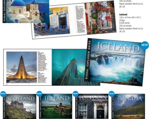 200 col photos Rights available: World ex Ca, UK, US Iceland 120 x 161mm (4¾