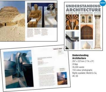 "NEW! Understanding Architecture 297 x 227mm (11¾ x 9"") 224pp 35,000 words 150 colour photographs"