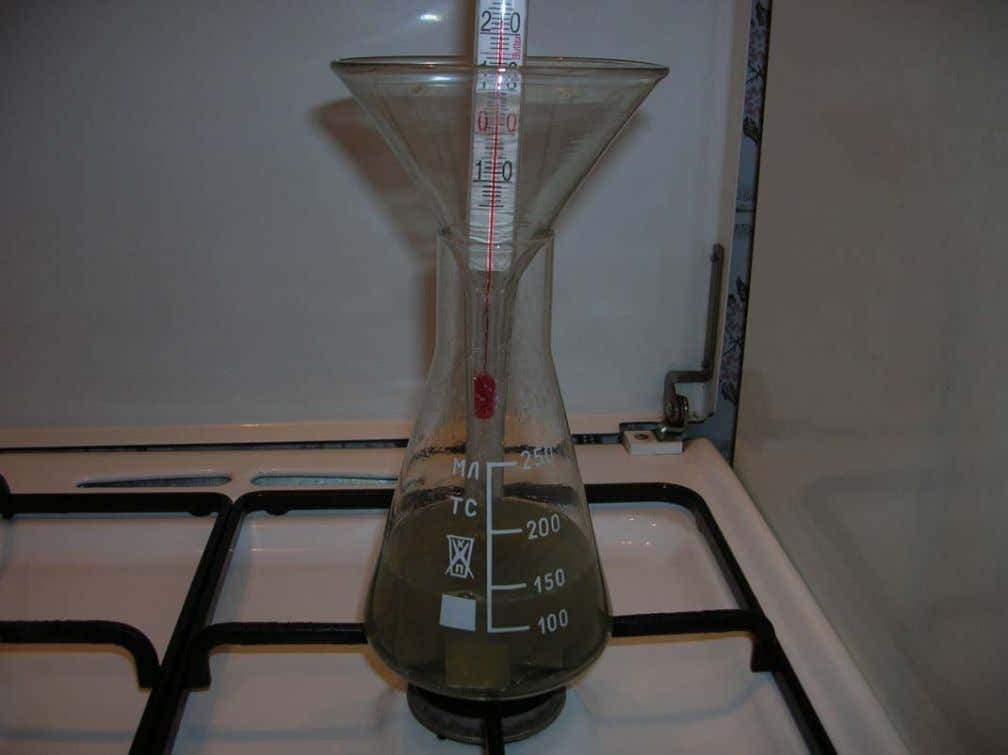all solution will boil, so need to put in the erlenmeyer flask some condenser. SWIM use