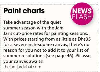 Paint charts Take advantage of the quiet summer season with the Jam Jar's cut-price rates