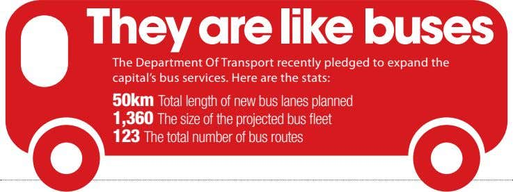 They are like buses The Department Of Transport recently pledged to expand the capital's bus