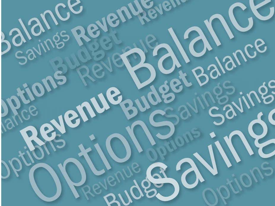A p r i l 2 0 1 2 Budget Options For New York City IBO