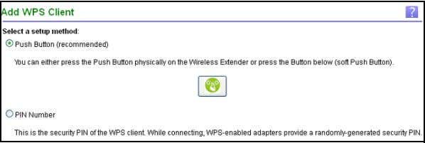 1. Select Home > WPS Setup . 2. Click Next . By default, the Push Button