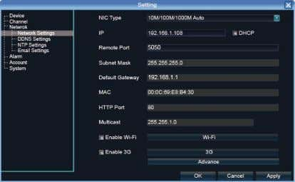 "SEQ"" to start rotation. 6.1 Network Setting Connect NVR with network cable to the LAN switch,"