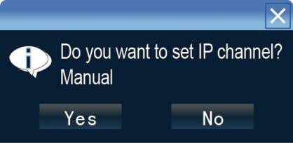 "If need to manual setting IP address, click ""NO"". 5.1.4 Power Off Click the power switch"