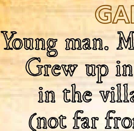 Garnier Young man. Mercenary. Archer. Grew up in the mountains in the village of Camon