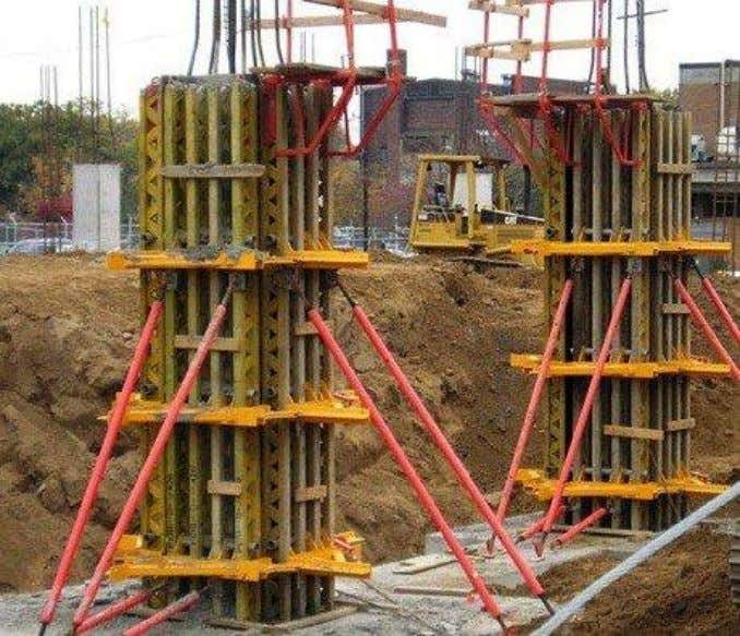As the sizes of concrete column increases, the stiffness of the formwork must be increased by