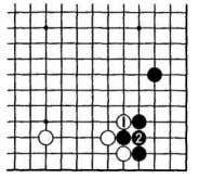 however, that White 1 helps Black to solidify his corner Dia. 12 Dia. 13: White's aim