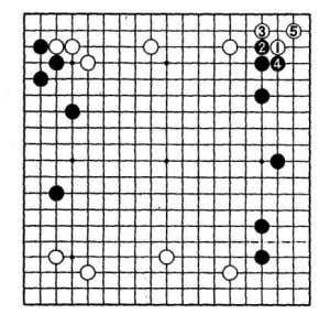 After 1 to 5 in the diagram, there is a move that Black must Theme diagram