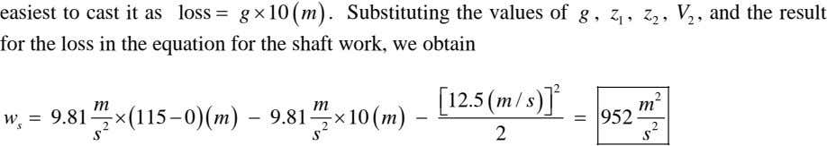 easiest to cast it as loss = g × 10 ( m ) . Substituting the