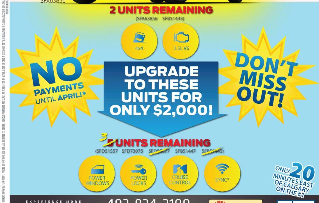 UPGRADE TO THESE UNITS FOR ONLY $2,000! 3 5 UNITS REMAINING (SFD51557 SFD73075 SFD85677 SFB51447