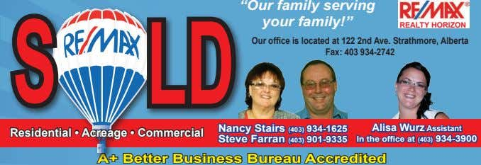 """Our family serving your family!"" REALTY HORIZON S LD Our office is located at 122"