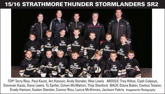 15/16 STRATHMORE THUNDER STORMLANDERS SR2 TOP: Terry Riou, Paul Kautz, Art Hanson, Andy Stender, Wes